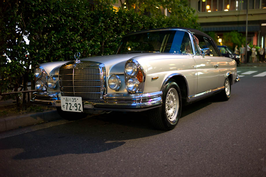 Old Mercedes in Ginza
