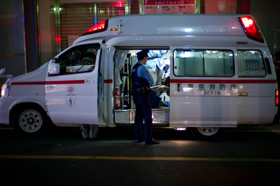 Ambulance in Jiyugaoka