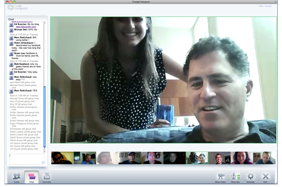 Google Plus Hangout with Michael Dell