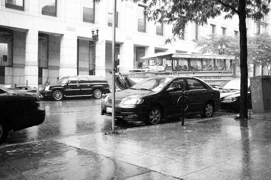 Raining in Boston