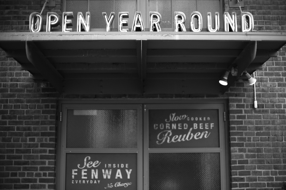 Open Year Round at Fenway Park