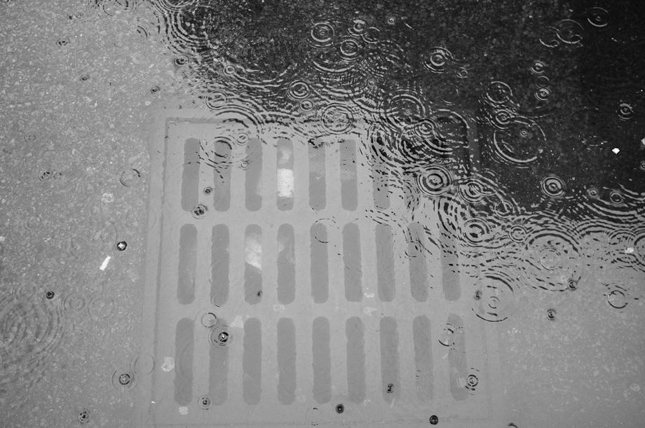 Rain from Irene in Boston
