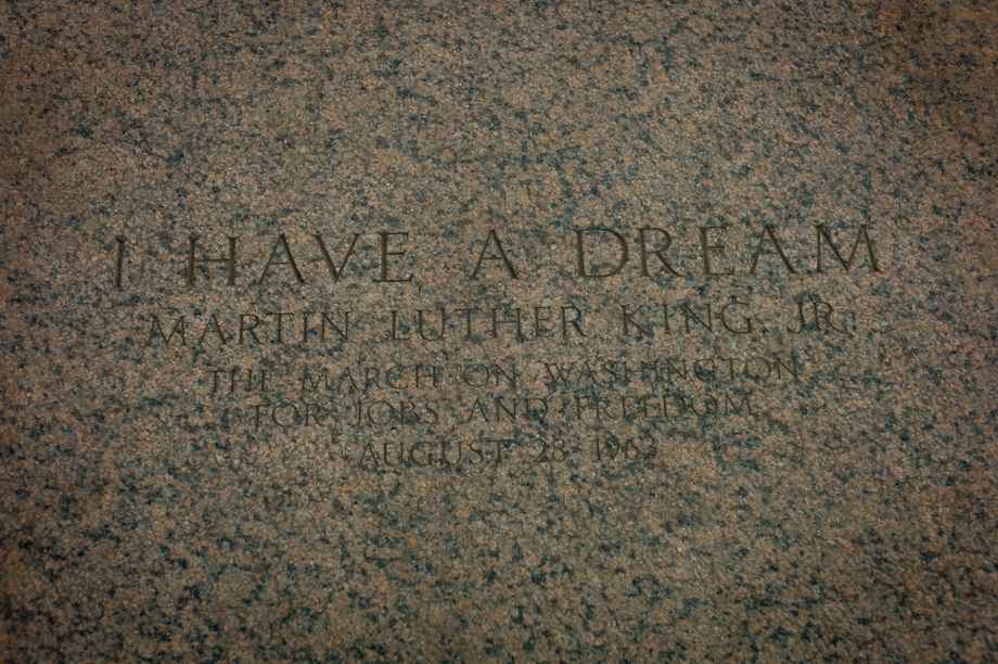 The spot where Dr Martin Luther King gave his 'I have a dream' speech