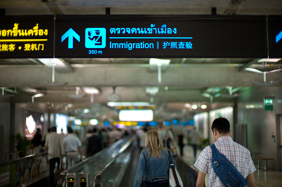 Arrivals in Bangkok