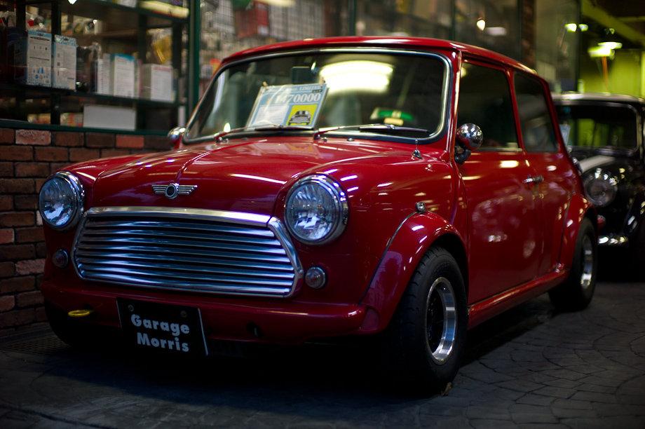 Mini Coopers in Jiyugaoka