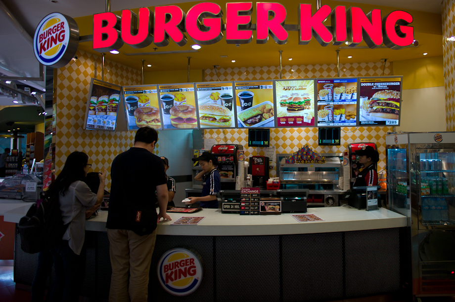 Burger King at Bangkok Airport