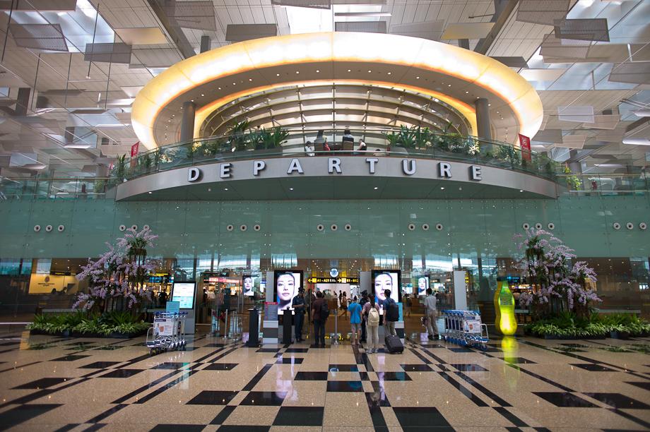 Departures at Singapore