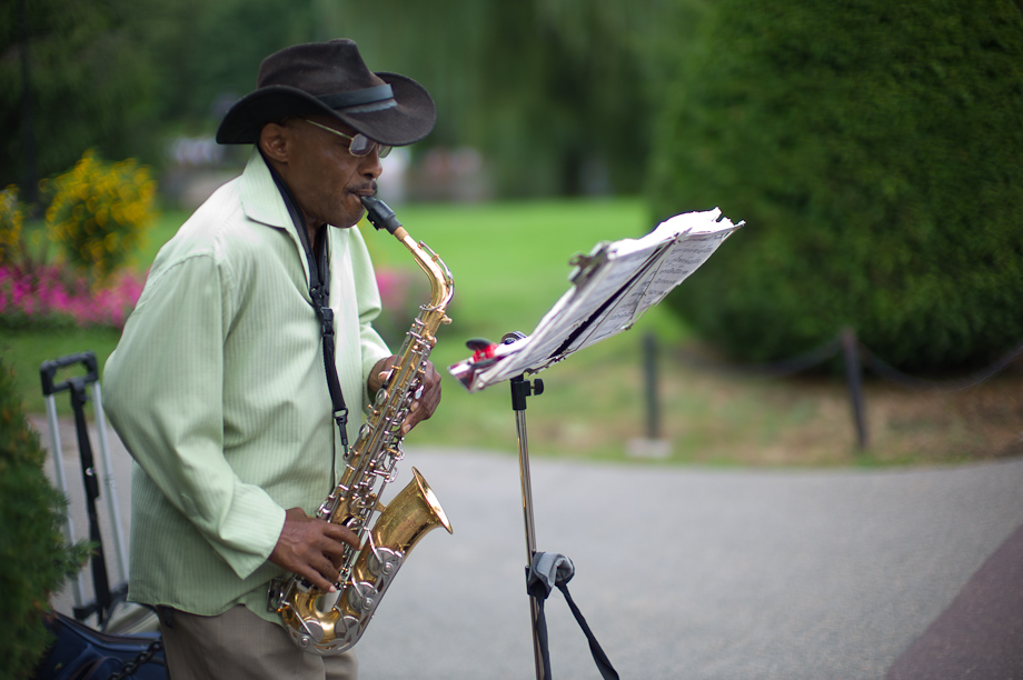 Sax Player in Boston Public Garden