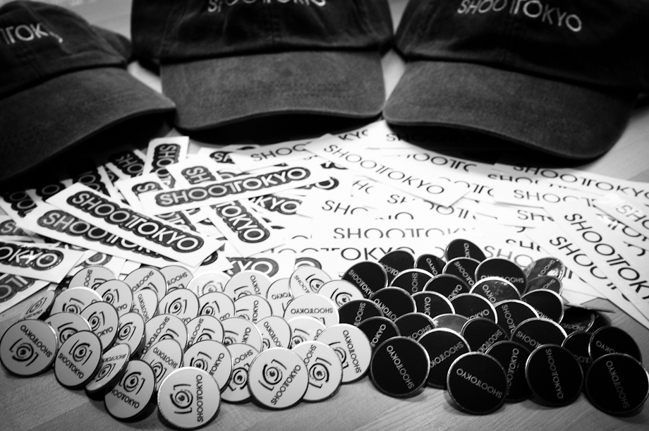 ShootTokyo Stickers, Buttons and Hats