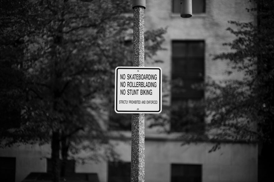 No skateboarding in Boston