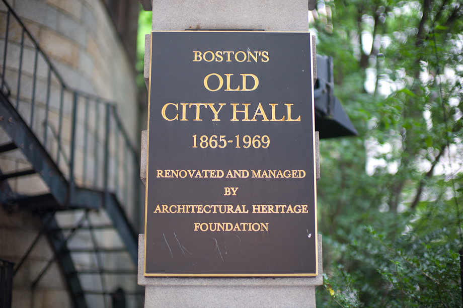 Old City Hall in Boston