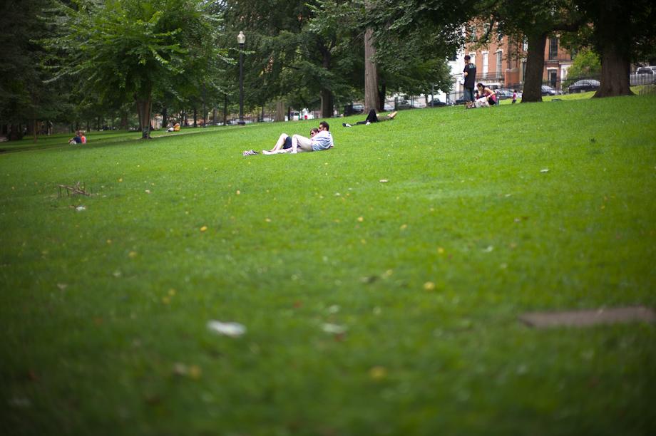 Lounging in Boston Common