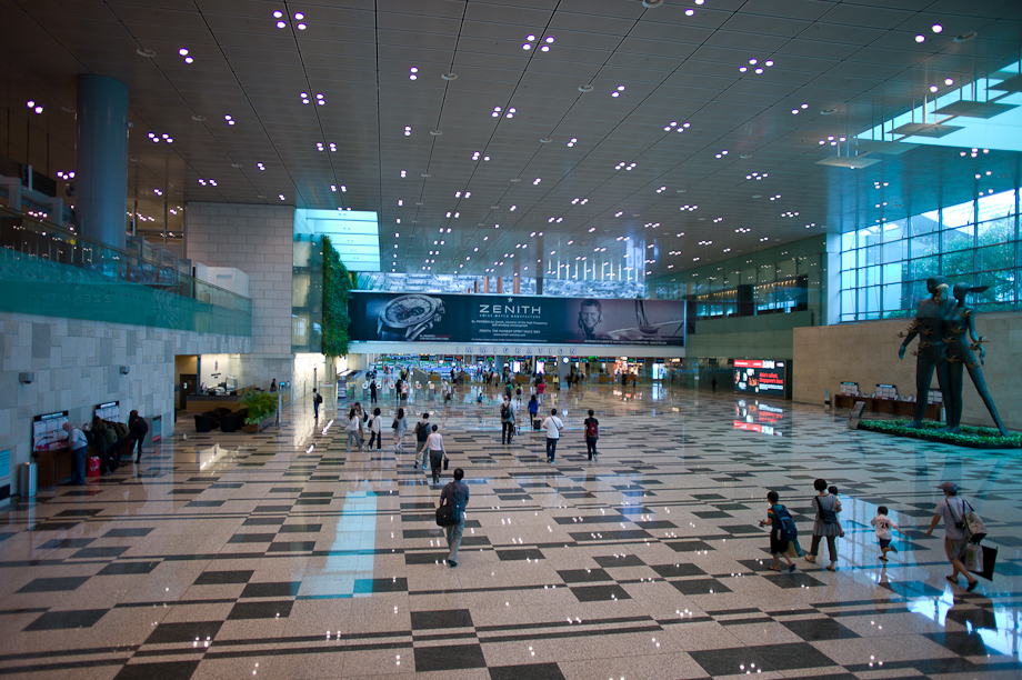 Changhi Airport in Singapore