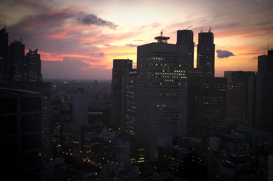 Sunset on Shinjuku