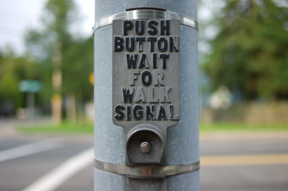 Push Button Wait to Walk Signal