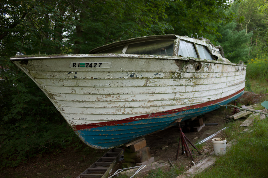 Old rotten boat