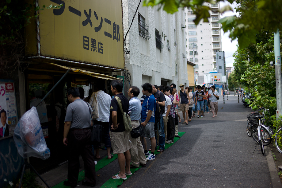 The long line for ramen