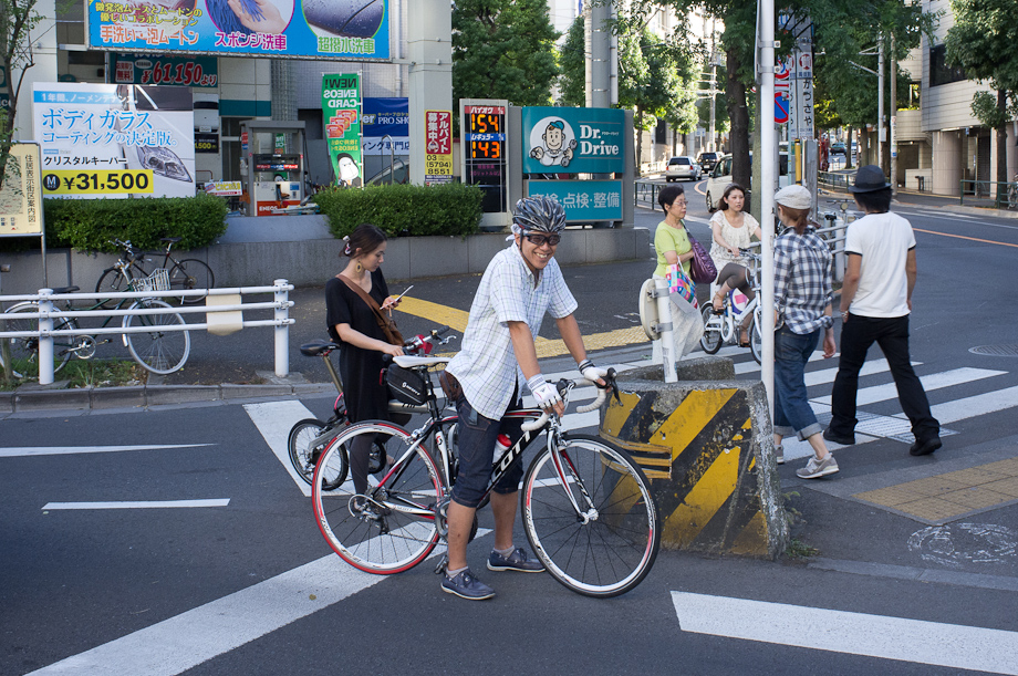 Cyclist in Tokyo