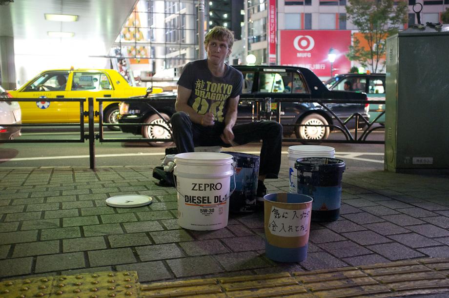 Street Drummer in Shibuya