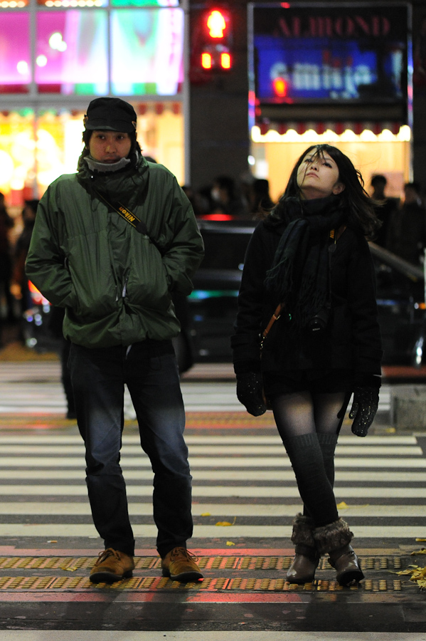 A couple at Roppongi Crossing