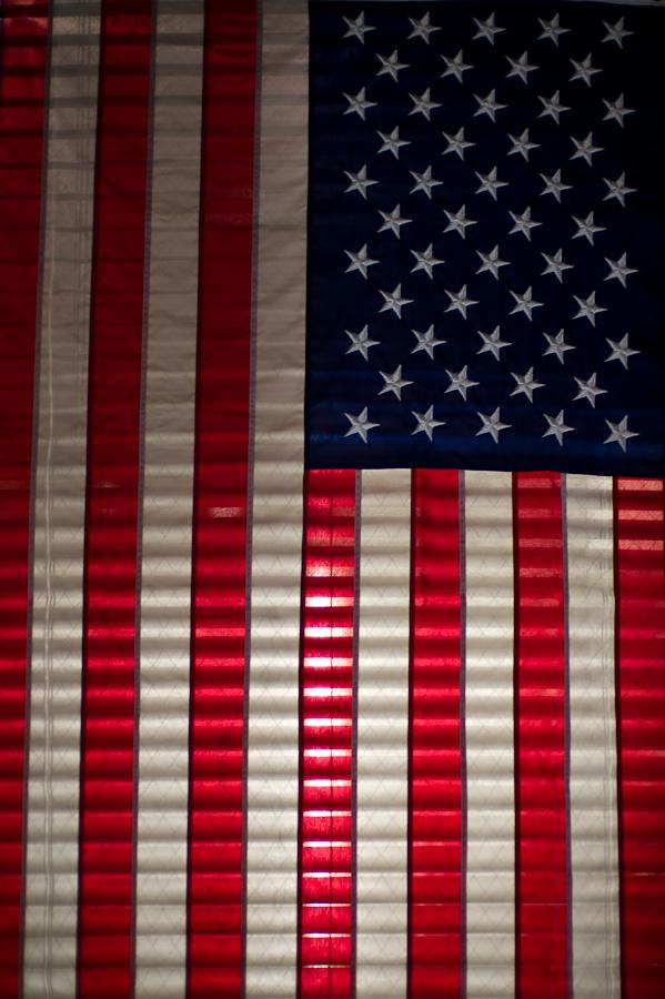 Back lite American Flag