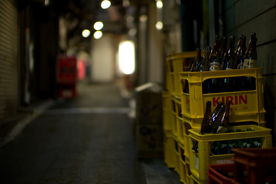 A closed Yakitori Alley