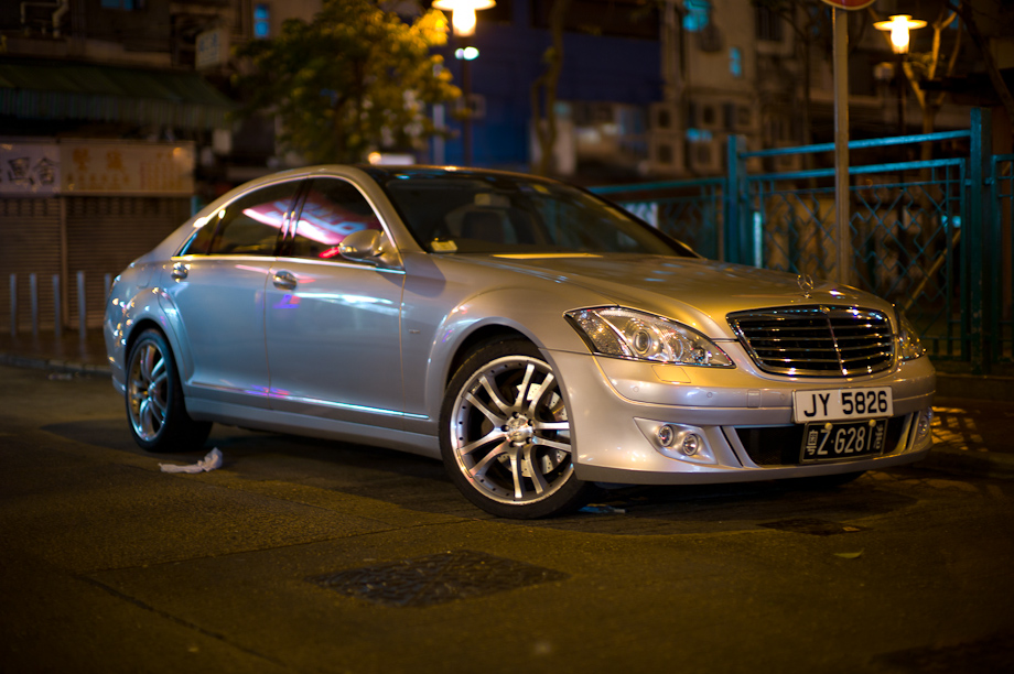 Mercedes in Mongkok Hong Kong