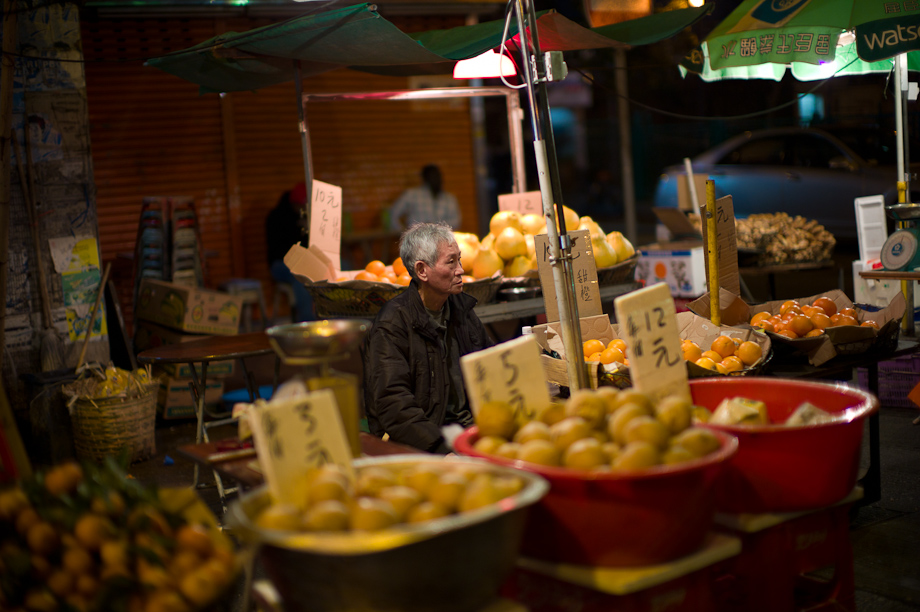 Fruit Seller in Mongkok