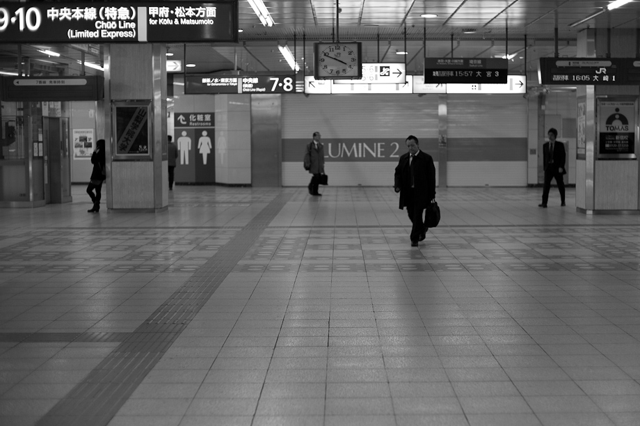 Empty Shinjuku Station