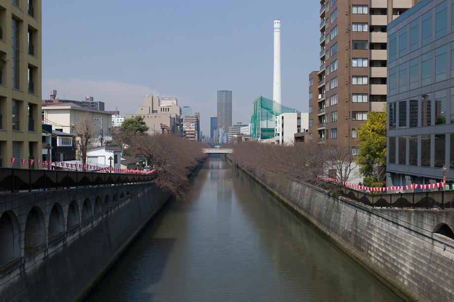 Meguro River in Nakameguro Tokyo Japan