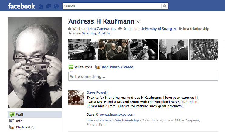 Andreas Haufmann on Facebook