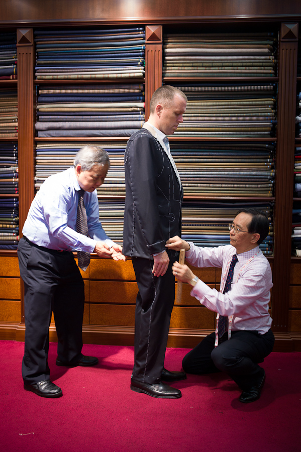 Getting a suit tailored in Hong Kong
