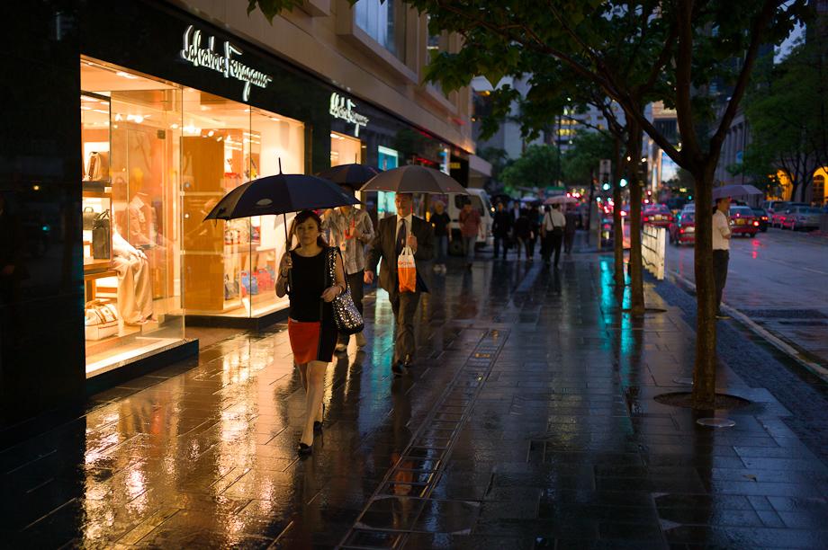 Raining in Hong Kong