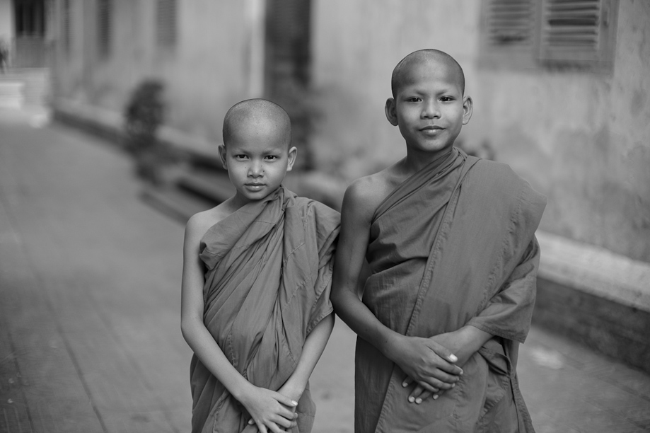 Young Monks in Phnom Penh, Cambodia