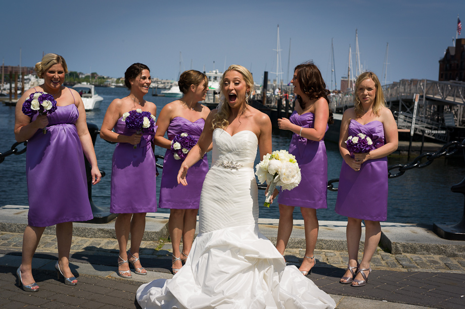 Wedding Photos on the Boston Harbor