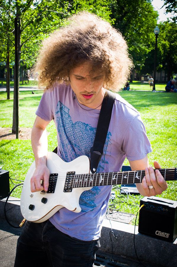 Guitarist on the common