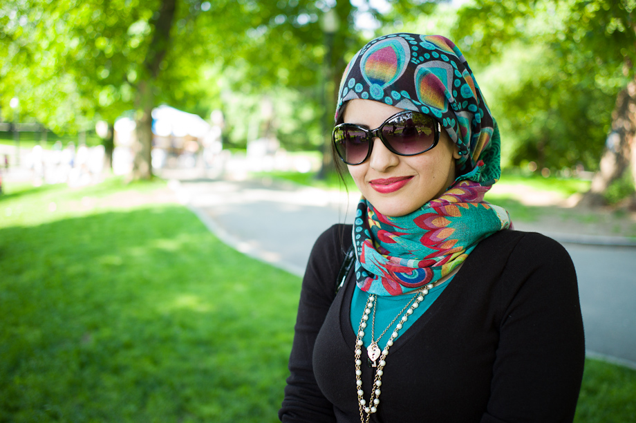 Woman on Boston Common