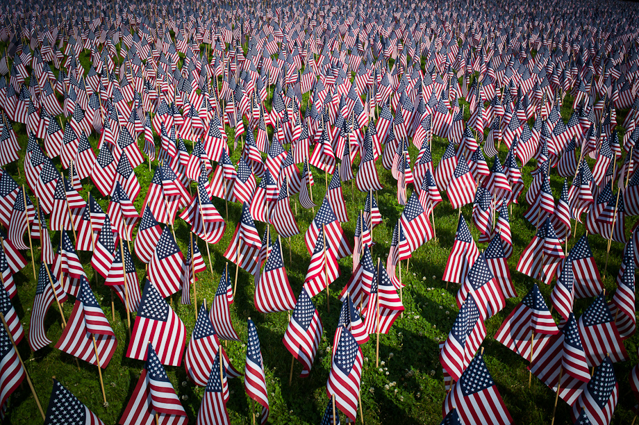 33,000 flags on Boston Common