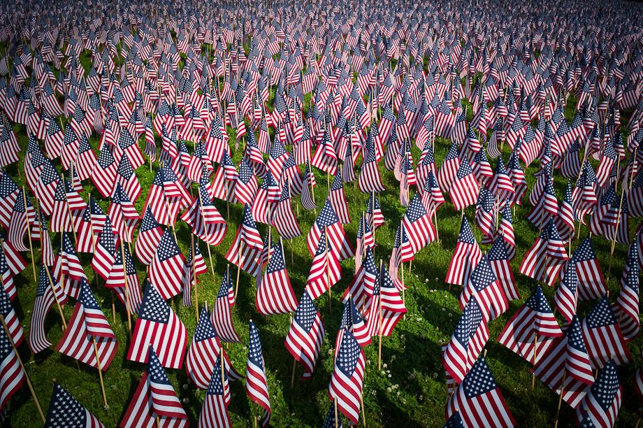 33,000 flags on Boston Common