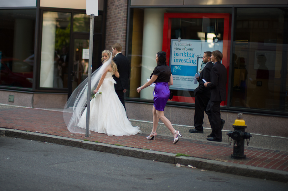 Bride on the street