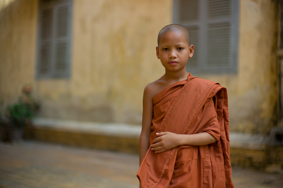 Monks in Phnom Penh Cambodia