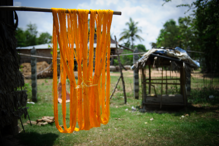 Creating Silk Products supported by Tabitha Cambodia