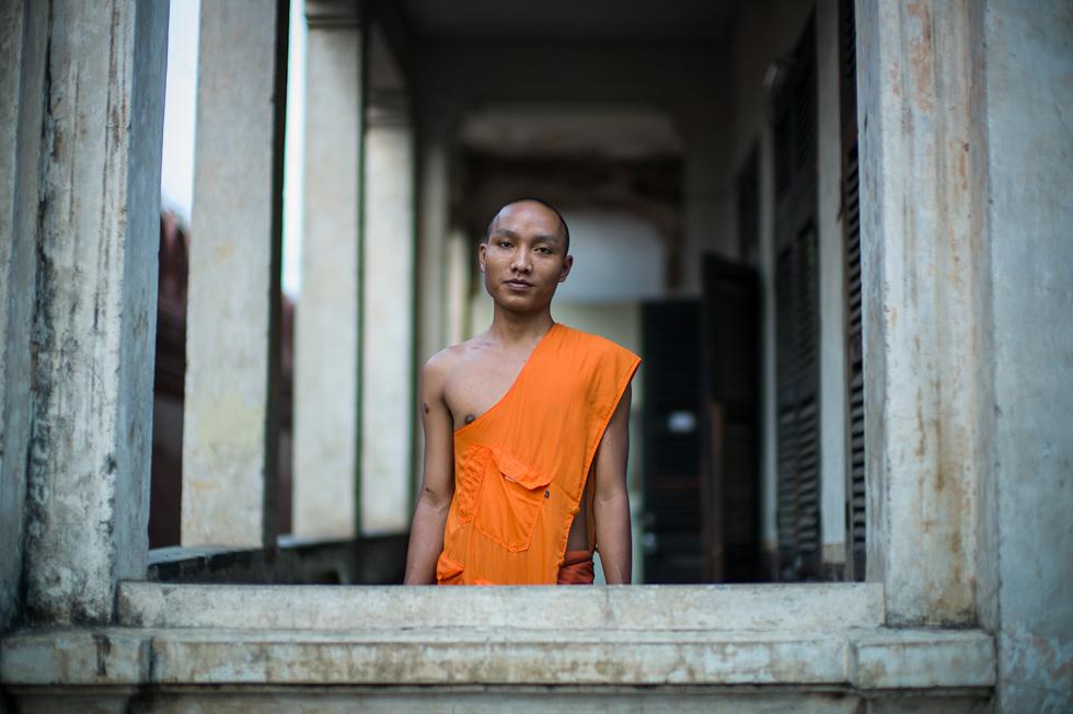 A monk in Phnom Penh Cambodia