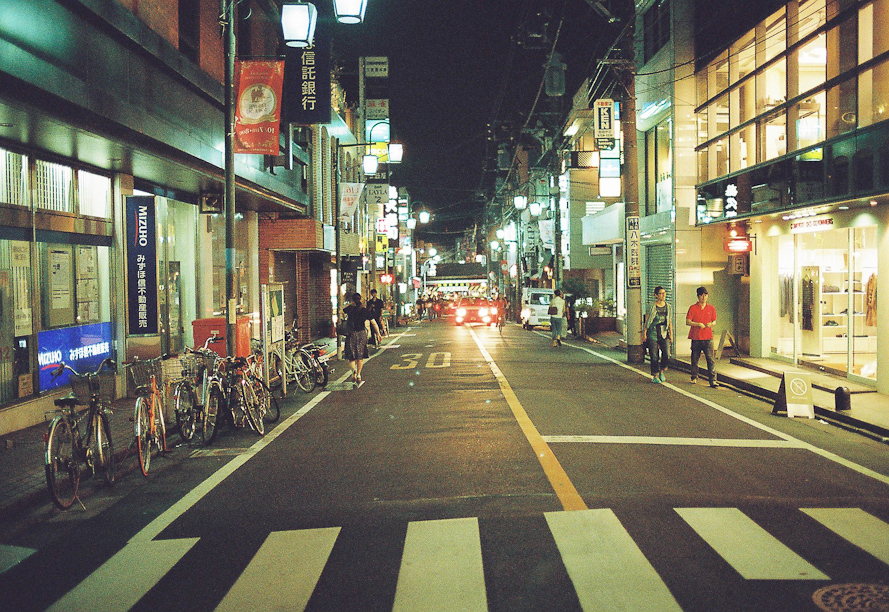 Jiyugaoka at night
