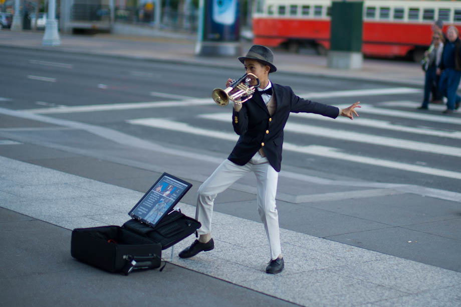 Street Performer in San Francisco