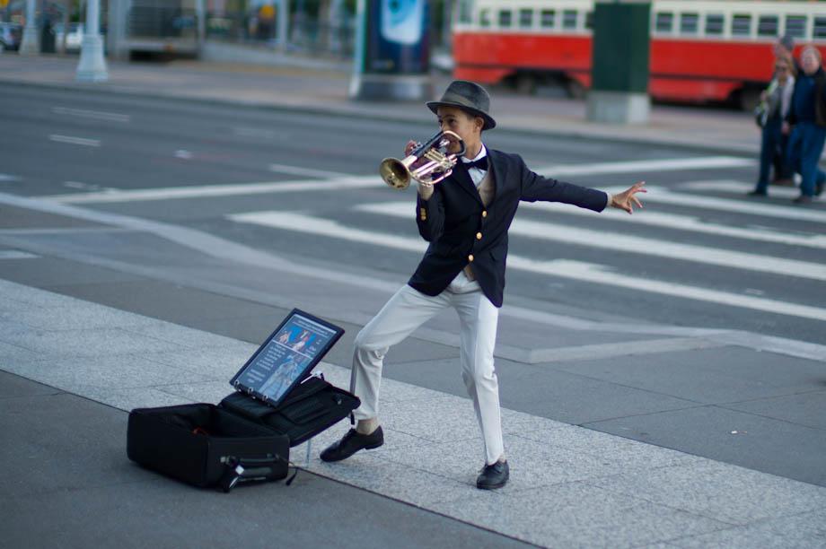 Street Performer in San Francisco