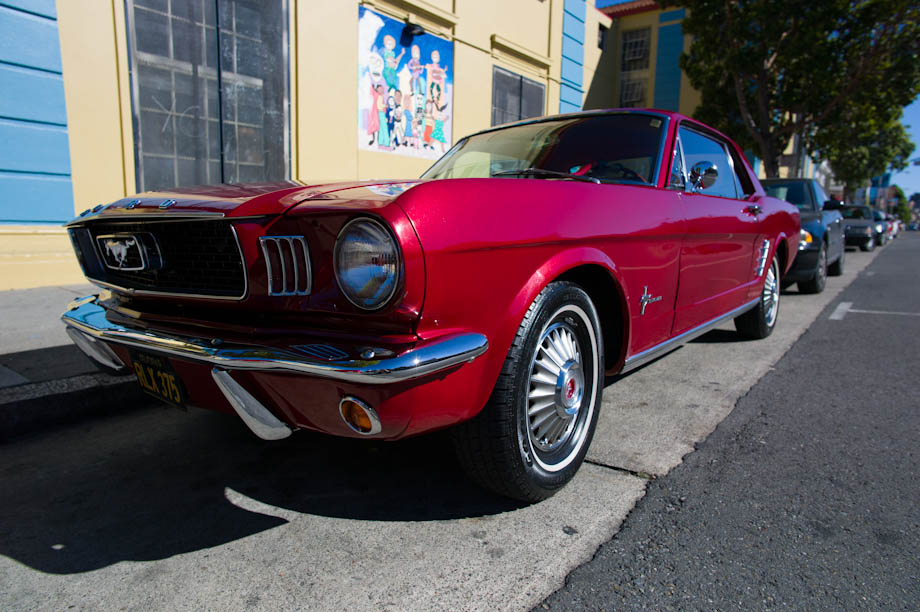 1960s Candy Apple Red Mustang