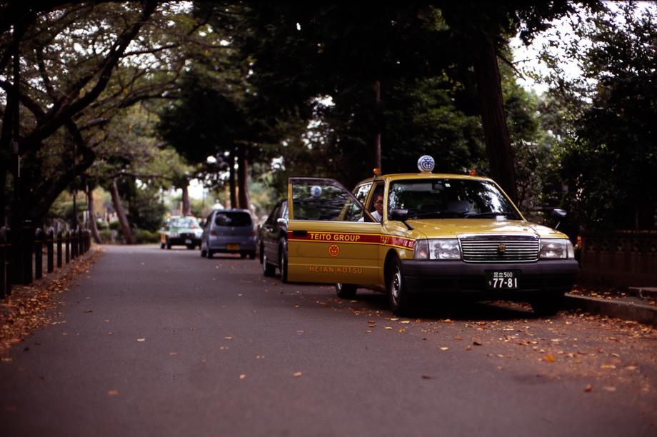 Taxi driver break in Yanaka