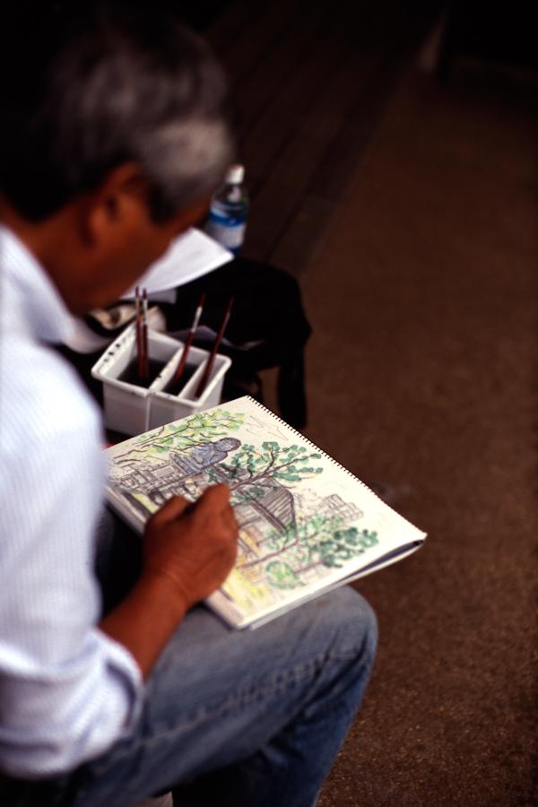 Drawing in Yanaka