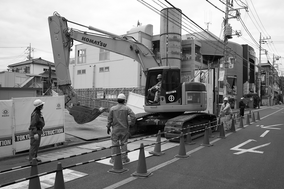 Construction in Jiyugaoka